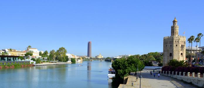 The Torre del Oro and Guadalquivir river